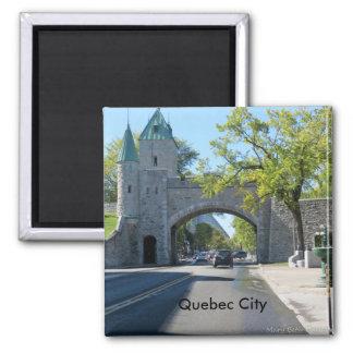 City Entrance Quebec City Square Magnet