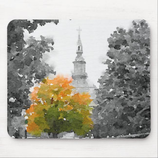 City Fall Colors Mouse Pad