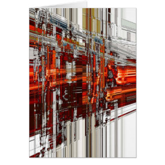 city fire greeting card