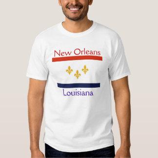CITY FLAG NEW ORLEANS LOUISIANA TSHIRTS