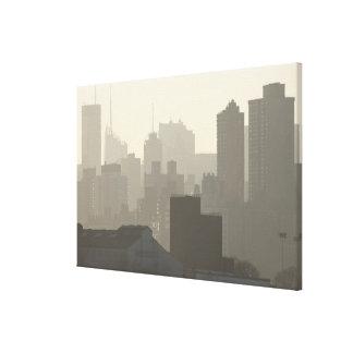 City Fog Canvas Prints
