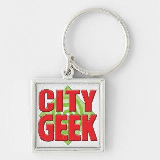 City Geek v2 Key Chains
