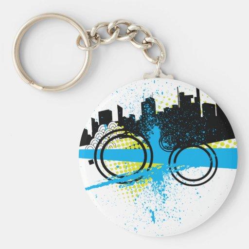 City Graffiti Key Chain