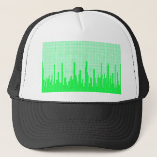 City Greenscape Halftone Trucker Hat