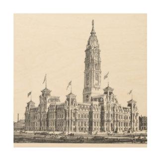City Hall Philadelphia PA 1891 Wood Wall Art