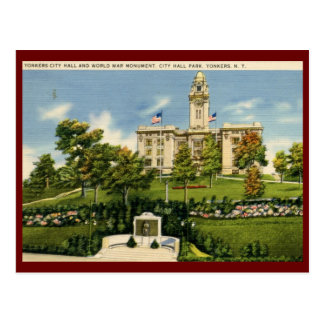 City Hall, Yonkers, NY Vintage Postcard