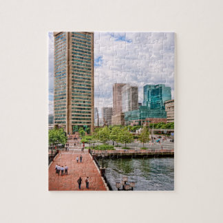City - Harbor Place - Baltimore World Trade Center Jigsaw Puzzle