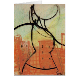 """City Heat"" Pastel Painting Notecard, Brad Hines Greeting Card"