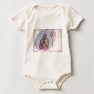 City in Nebula #purple Baby Bodysuit