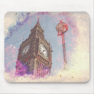 City in Nebula #purple Mouse Pad