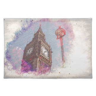 City in Nebula #purple Placemat