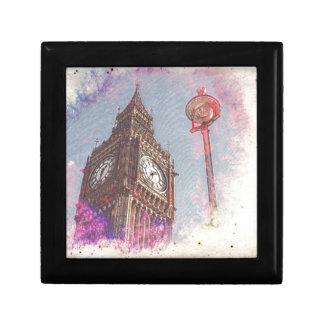 City in Nebula #purple Small Square Gift Box