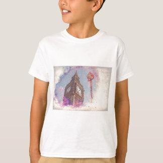City in Nebula #purple T-Shirt