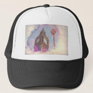 City in Nebula #purple Trucker Hat