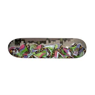 City in Plaid Graffiti Board Skate Decks