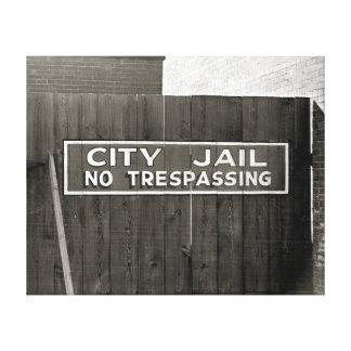 City Jail 1939 Canvas Print
