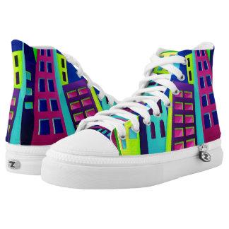 City Kicks Printed Canvas High Tops Printed Shoes