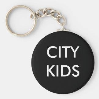 CITY KIDS BASIC ROUND BUTTON KEY RING
