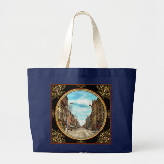 City - Knoxville TN - Gay Street 1903 Large Tote Bag