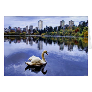 City Lake Swan Card