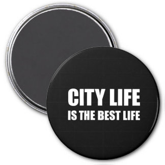 City Life Best Life 7.5 Cm Round Magnet