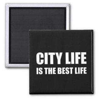 City Life Best Life Square Magnet