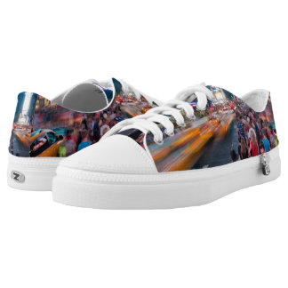 City Life Times Square Zipz Low Top Shoes Printed Shoes