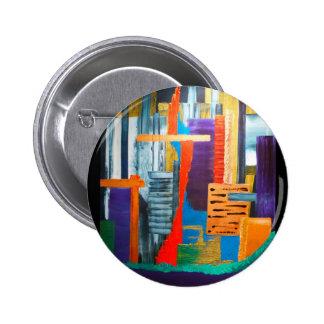 City Lights 6 Cm Round Badge