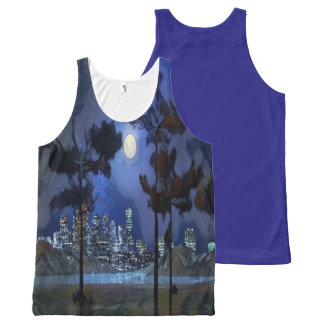 city lights All-Over print singlet