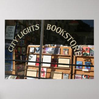 City Lights Bookstore Display Window Poster