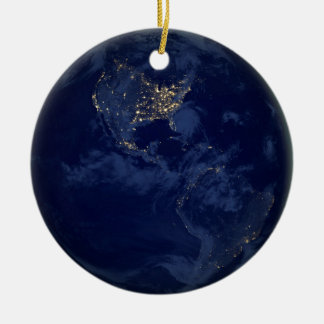 City Lights of the Americas Ceramic Ornament
