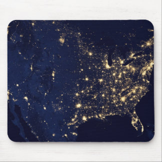 City Lights of the United States Mouse Pad