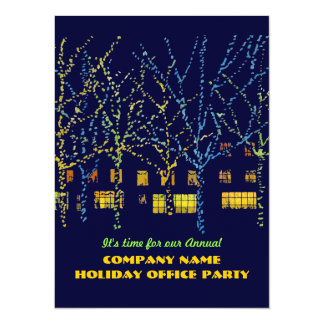 City Lights Office Holiday Party Invitations