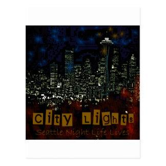 City Lights Seattle Postcard