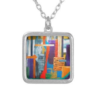 City Lights Square Pendant Necklace