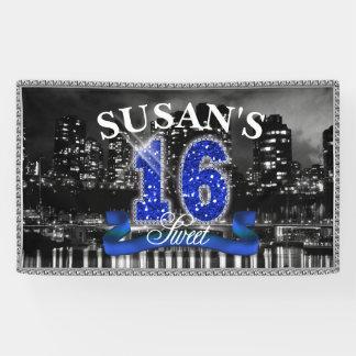 City Lights Sweet Sixteen Blue ID118 Banner