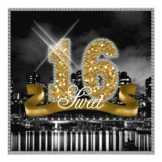 City Lights Sweet Sixteen Gold ID243 Card