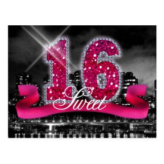 City Lights Sweet Sixteen Pink ID117 Postcard