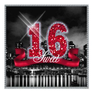 City Lights Sweet Sixteen Red ID242 Card