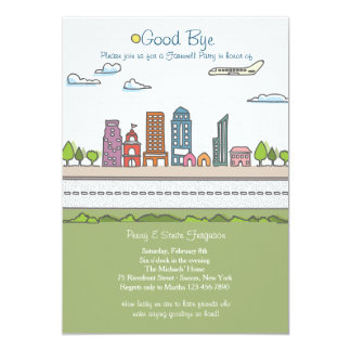 City Line Farewell Party Invitation