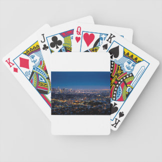City Los Angeles Cityscape Skyline Downtown Bicycle Playing Cards