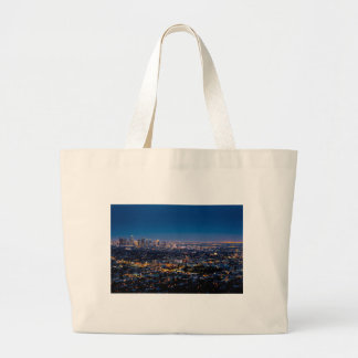City Los Angeles Cityscape Skyline Downtown Large Tote Bag