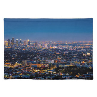 City Los Angeles Cityscape Skyline Downtown Placemat