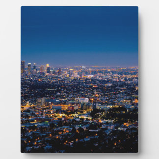 City Los Angeles Cityscape Skyline Downtown Plaque