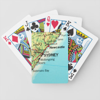 City Map of Sydney in Australia Bicycle Poker Deck