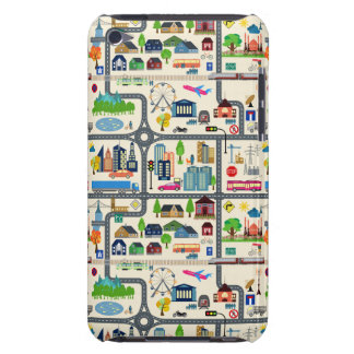 City Map Pattern Barely There iPod Cases