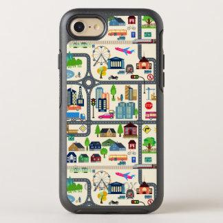 City Map Pattern OtterBox Symmetry iPhone 8/7 Case