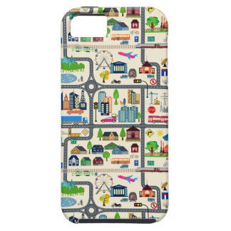 City Map Pattern Tough iPhone 5 Case