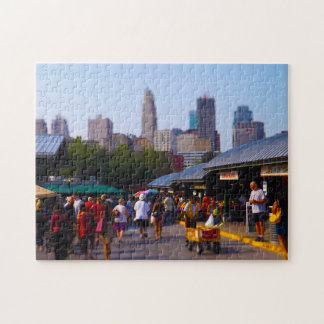 City Market and Downtown Kansas City Skyline Jigsaw Puzzle