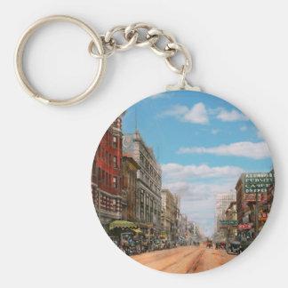 City - Memphis TN - Main Street Mall 1909 Basic Round Button Key Ring